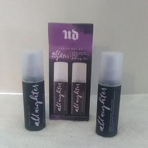 Set of 2 full size Urban Decay All nighter spray